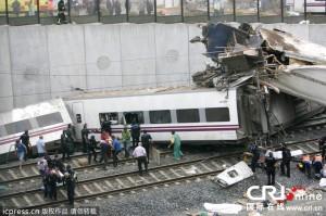 スペイン高速列車脱線事故